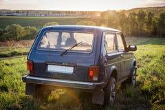 Sovjetiskt och ryss SUV Lada Niva Royaltyfria Foton