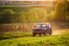 Sovjetiskt och ryss SUV Lada Niva Royaltyfria Bilder