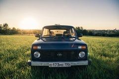 Sovjetiskt och ryss SUV Lada Niva Royaltyfri Foto