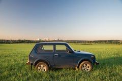 Sovjetiskt och ryss SUV Lada Niva Royaltyfri Fotografi