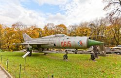 Sovjetiskt supersoniskt strålkämpeflygplan MiG-21 Royaltyfria Bilder