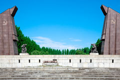 Sovjetoorlogsgedenkteken, Treptower-Park, Royalty-vrije Stock Afbeeldingen