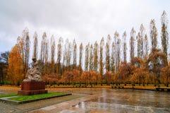 Sovjetoorlogsgedenkteken in Treptower-Park, het Panorama van Berlijn, Duitsland Royalty-vrije Stock Foto
