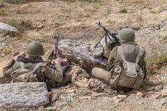 Sovjetspetsnaz in Afghanistan stock afbeelding