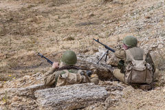 Sovjetspetsnaz in Afghanistan royalty-vrije stock afbeeldingen