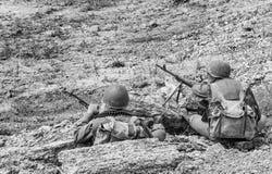 Sovjetspetsnaz in Afghanistan stock afbeeldingen