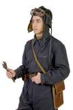 Sovjettankbestuurder met moersleutel Royalty-vrije Stock Afbeelding