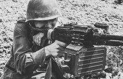 Sovjetvalschermjager in Afghanistan stock fotografie