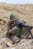 Sovjetvalschermjager in Afghanistan royalty-vrije stock afbeelding