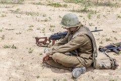 Sovjetvalschermjager in Afghanistan stock afbeelding