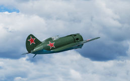 Sovjetvechtersvliegtuigen I-16 Stock Afbeelding