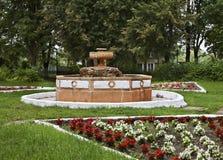 Sovjetvierkant in Bologoye Tver Oblast Rusland stock foto's