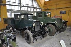 Sovjetvrachtwagens van Wereldoorlog II Stock Foto