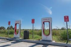 Sovralimentazione di Tesla in Flatonia, il Texas, U.S.A. Immagini Stock Libere da Diritti