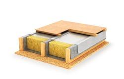 Sovrapposizione del soffitto di una struttura di legno Fotografie Stock