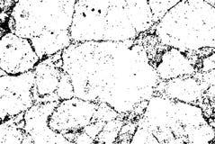 Sovrapposizione di semitono nera sottile di struttura della crepa di vettore Fondo bianco schizzato astratto monocromatico Grano  illustrazione di stock
