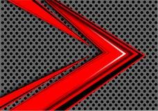 Sovrapposizione rossa astratta di velocità della freccia sul vettore futuristico moderno del fondo del cerchio di progettazione g illustrazione di stock