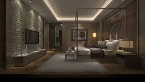sovrum 3d Arkivbild