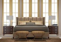 sovrum för klassiker 3d Arkivbilder