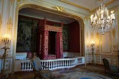 Sovrum för lyx för Chambord slottChateau Royaltyfria Foton