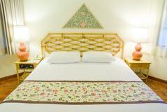 Sovrum i hotell Royaltyfri Fotografi