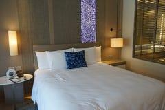 sovrum i hotell för fem stjärnor Fotografering för Bildbyråer