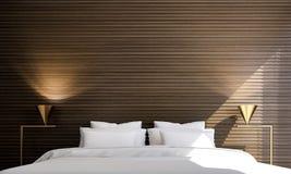Sovruminredesignen och träväggen mönstrar bakgrund Royaltyfri Foto