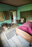 Sovrummet på det Goethe huset i Weimar, Tyskland Arkivfoto