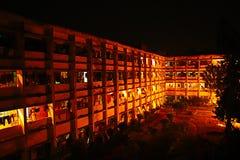 Sovsal för offentligt universitet eller bostads- korridor i Bangladesh Royaltyfri Foto