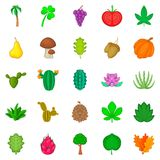 Sow the field icons set, cartoon style. Sow the field icons set. Cartoon set of 25 sow the field vector icons for web isolated on white background Stock Photography