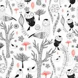 sowa lasowy wzór Obraz Stock