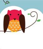 Sowa mądry ptak ilustracji