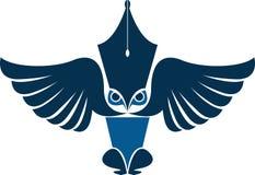 Sowa reportera logo Zdjęcia Royalty Free