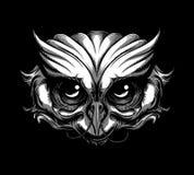 Sowa tatuaż royalty ilustracja