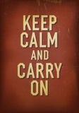 Słowa utrzymania spokój i niesie dalej. Fotografia Stock