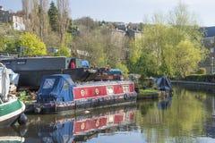 Sowerby桥梁小游艇船坞, Calderdale 免版税库存照片