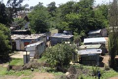 Soweto quarters. A view on Soweto townships stock photos