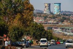 SOWETO, un distretto di Johannesburg, Sudafrica Fotografia Stock Libera da Diritti