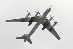 Sowieci bombowiec strategiczny Tupolev Tu-95 Obrazy Royalty Free