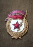 Sowieci chroni odznakę Zdjęcie Stock