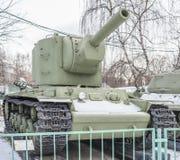 Sowieci ciężki zbiornik KV-2, rok uwolnienie - 1940 Zdjęcie Stock
