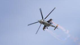 Sowieci eraMi-24 Tylni helikopter Obraz Royalty Free
