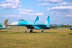 Sowieci Opancerzony Militarny Szturmowy samolot Przy aerodromem Samolot Projektujący Zapewniać Zamkniętego Lotniczego poparcie Dl Obraz Royalty Free