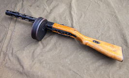 Sowieci & x28; Russian& x29; submachine pistolet Shpagin & x28; PPSh& x29; Obrazy Stock