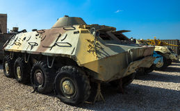 Sowieci zrobił ziemnowodni 60 CC$BTR opancerzonego transporteru Latrun, Izrael Obrazy Royalty Free