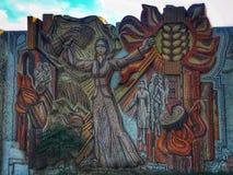 Sowieci - zrzeszeniowa mozaika Baku zdjęcia stock
