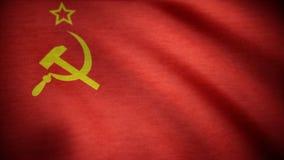 Sowieci - zrzeszeniowej flaga falowanie USSR flaga falowania animacja obrazy royalty free