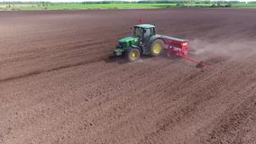 Sowing corn stock video