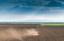 Sowing crops at field Royalty Free Stock Image