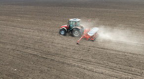 Sowing crops at field Royalty Free Stock Photography